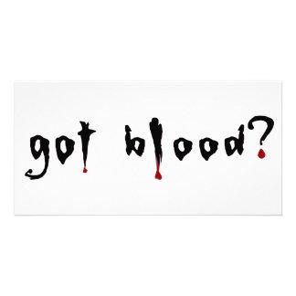 got blood? photo card template
