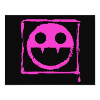 got blud smily ded girl vamp Smily n' Fangs!! 4.25x5.5 Paper Invitation Card