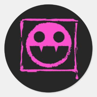 got blud smily ded girl vamp Smily n' Fangs!! Classic Round Sticker