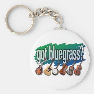 """""""Got Bluegrass?"""" Basic Round Button Keychain"""
