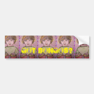 got bongos? bumper sticker