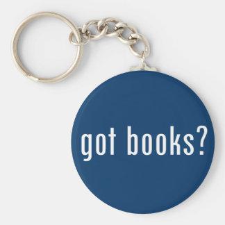 got books? basic round button keychain