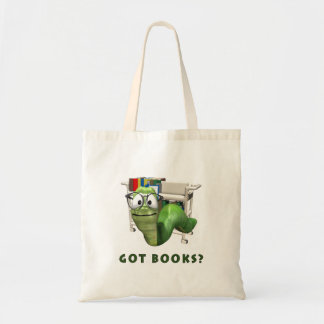 Got Books? Bookworm Budget Tote Bag