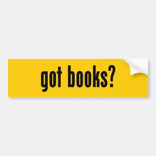 got books? bumper sticker