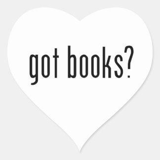 got books? heart sticker
