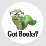 Got Books T-shirts and Gifts. Classic Round Sticker