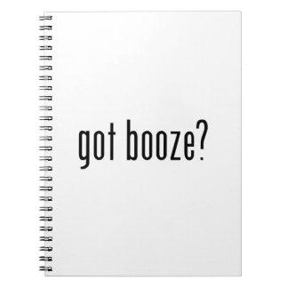 got booze? spiral notebook