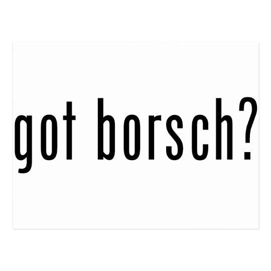 got borsch? postcard