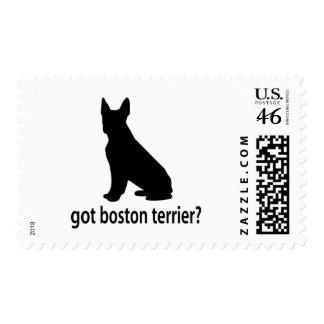 Got Boston Terrier Postage Stamp