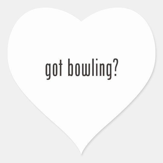 got bowling? heart sticker
