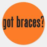 got braces? classic round sticker