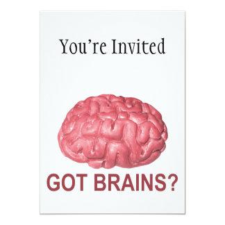 Got Brains? 5x7 Paper Invitation Card