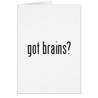 got brains? card