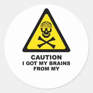 got brains classic round sticker