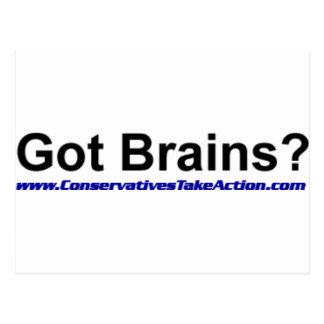 Got Brains Series Postcard