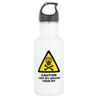 got brains stainless steel water bottle