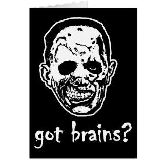 Got Brains Zombie Halloween Card