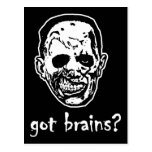 Got Brains Zombie Halloween Post Card