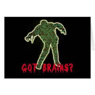 Got Brains? Zombie Halloween Tshirts, Hoodies Card