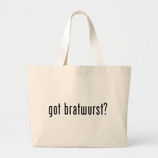 got bratwurst? canvas bags