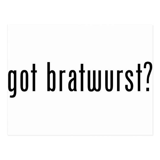 got bratwurst? postcard