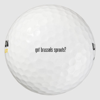 got brussels sprouts pack of golf balls