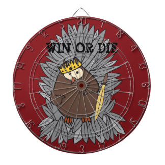 GoT Brute Hoot Owl King Dartboard With Darts
