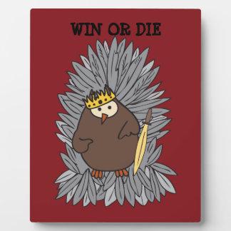 GoT Brute Hoot Owl King Plaque