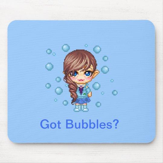 Got Bubbles? Cutie Pixel Mouse Pad