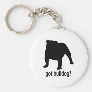 Got Bulldog Basic Round Button Keychain