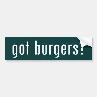 got burgers? bumper sticker