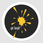 got 'burgh? classic round sticker