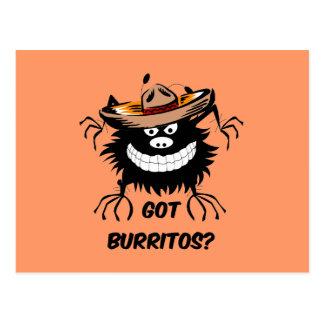 Got burritos postcard