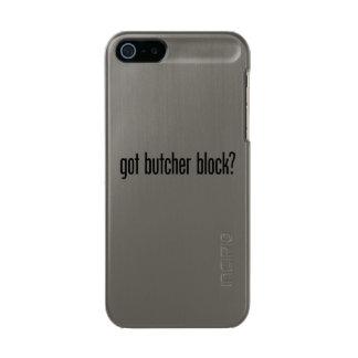 got butcher block metallic phone case for iPhone SE/5/5s