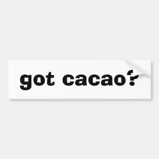 got cacao? car bumper sticker