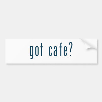 got cafe bumper sticker