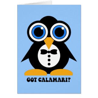 got calamari greeting card