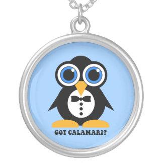 got calamari round pendant necklace