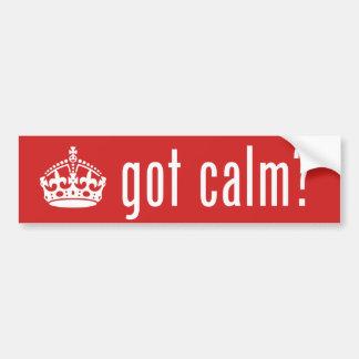 got calm? bumper sticker