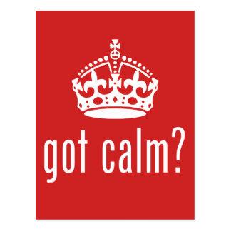 got calm? postcard
