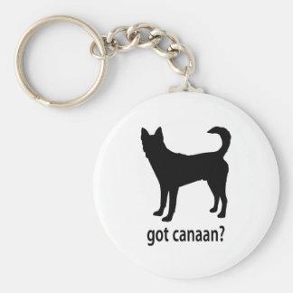 Got Canaan Dog Basic Round Button Keychain