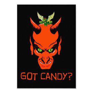 Got Candy Demon? 3.5x5 Paper Invitation Card
