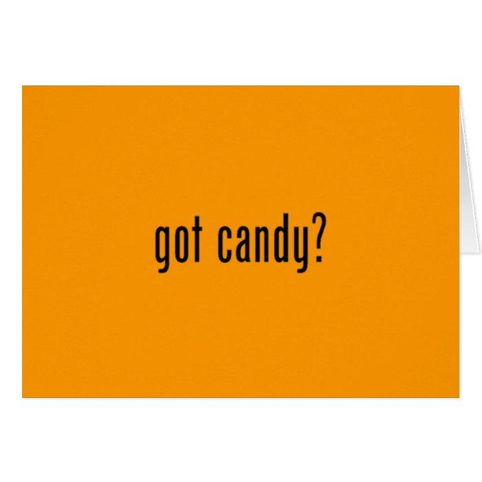 got candy? orange greeting card