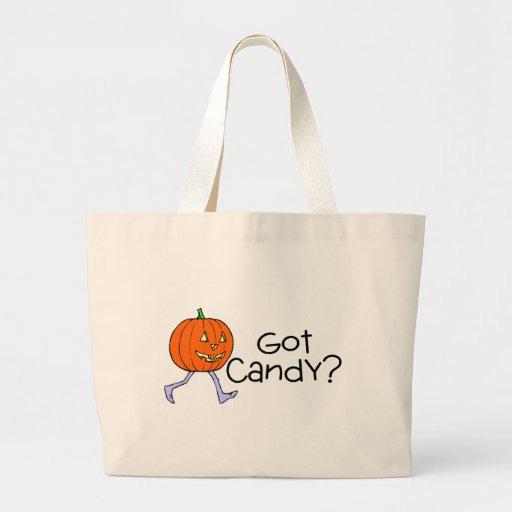 Got Candy Pumpkin Head Jumbo Tote Bag
