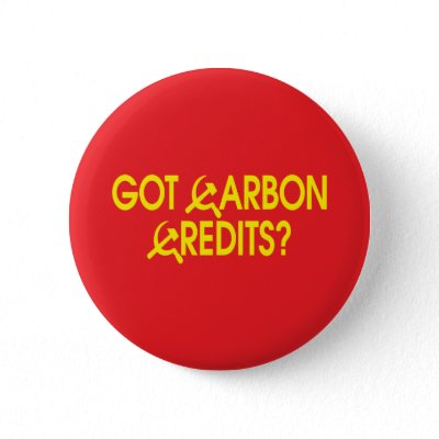 Got Carbon Credits? pinback button