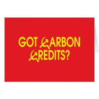 Got Carbon Credits? Card