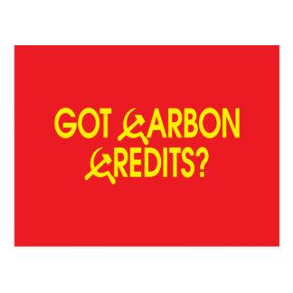 Got Carbon Credits? Postcard