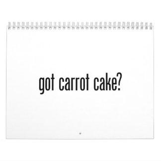 got carrot cake calendar
