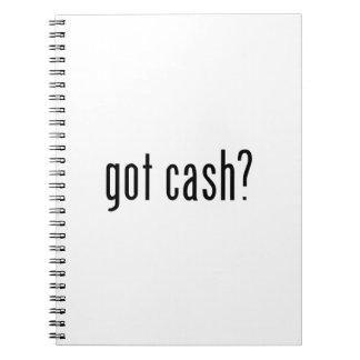 got cash notebook
