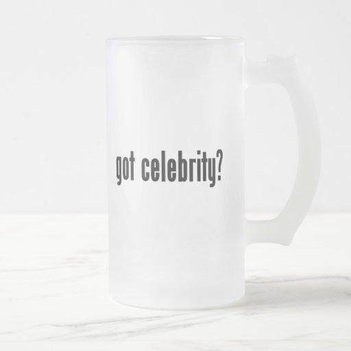 got celebrity? 16 oz frosted glass beer mug
